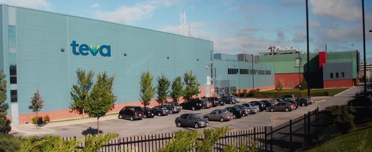 Photograph of Teva Canada's Centre of Excellence for Penicillin Products in Markham, Ontario