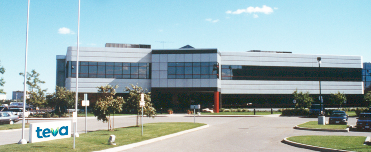 Photograph of Teva Canada's Centre of Excellence for Packaging at 30 Novopharm Court